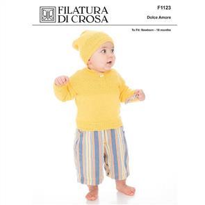 Filatura Di Crosa  F1123 Sweater and Hat