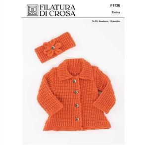 Filatura Di Crosa  Pattern F1136 Jacket and Head Band