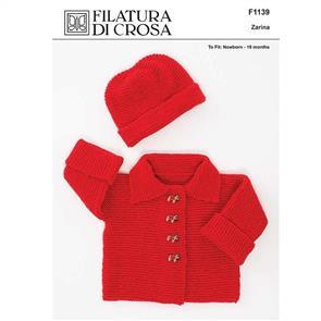 Filatura Di Crosa  F1139 Garter Stitch and Hat