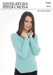 Filatura Di Crosa Filatura Dia Crosa F1143 Sweater with Shaped Side Slit