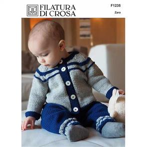 Filatura Di Crosa F1235 - Roma Jacket & Titian Pants - Knitting Pattern