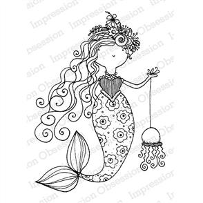 Impression Obsession  Stamps - Mermaid Beeski