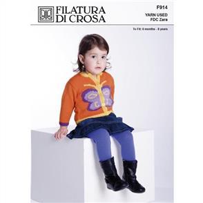 Filatura Di Crosa Pattern F1073 Butterfly Cardigan