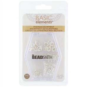 The Beadsmith The Bead Smith - Findings Assortment Silver