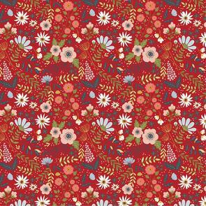 Poppie Cotton  Farmgirls Unite Collection - 54730 - Red Farm Girl - 112