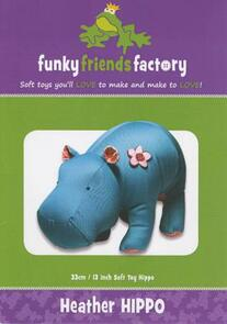 Funky Friends Factory Heather Hippo Toy Sewing Pattern