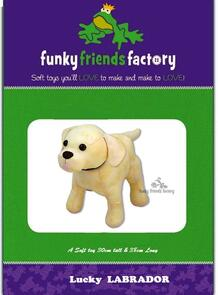 Funky Friends Factory Lucky the Labrador Toy Sewing Pattern