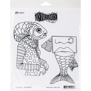 Ranger Ink Dyan Reaveley's Dylusions Cling Stamps - Fish Face