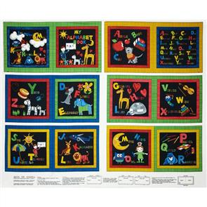 "MISC  Back to School 36"" Panel - My Alphabet Book"