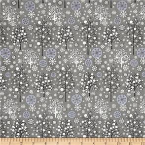 MISC  Fabri-Quilt - Season's Greetings - 103712 Grey