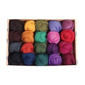 Ashford  Merino Fibre Sampler Pack #3 - 20 Colours - Dark