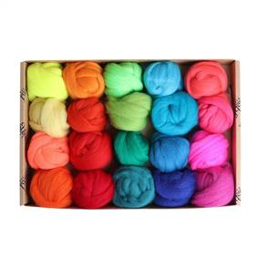 Ashford  Merino Fibre Sampler Pack #2 - 20 Colours - Brights