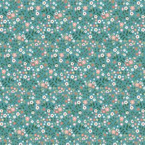 Poppie Cotton  Goose Creek Gardens, Garden Mix, Teal 103