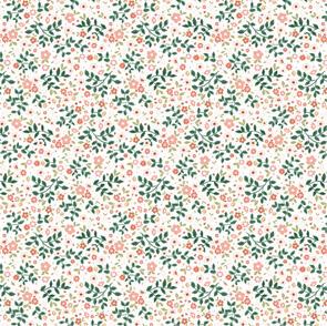 Poppie Cotton  Goose Creek Cardens, Garden Mix, White 107