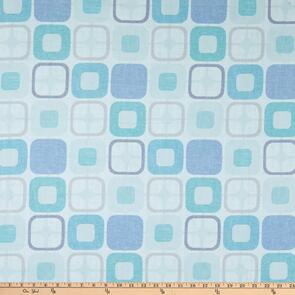 "Blank Quilting Geo Squares 108"" Light Blue"