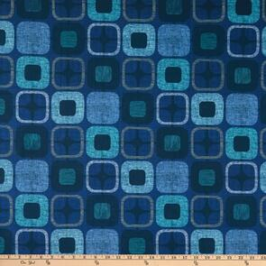 """Blank Quilting  Geo Squares 108"""" Navy"""