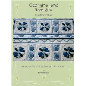 Georgina Jane Designs Cornflower Blue Table Runner