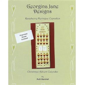 Georgina Jane Designs Christmas Advent Calendar - Raspberry Meringue Cupcakes