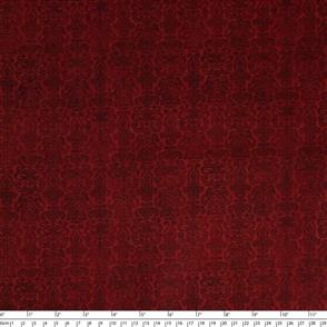 Quilting Treasures Santoro Gorjuss Fabric: My Story Brocade - Red