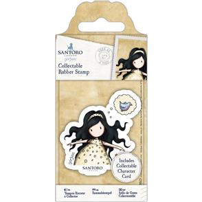 DoCrafts Gorjuss Collectable Mini Rubber Stamp: No. 44 Free As A Bird