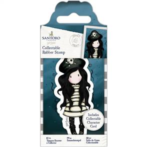 DoCrafts Gorjuss Collectable Mini Rubber Stamp: No. 49 Piracy