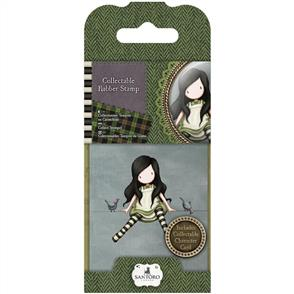 DoCrafts  Gorjuss Collectable Mini Rubber Stamp: On Top Of The World #12