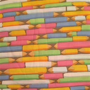 Free Spirit Kaffe Fassett Fabric - Pencils Pastel