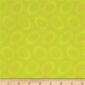 Free Spirit Kaffe Fassett Fabric - Aboriginal Dot Lime