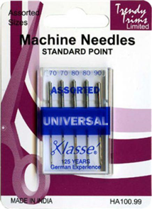 Trendy Trims Machine Needles Standard Point