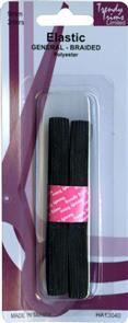 Trendy Trims  Braided Elastic (Black - 9mm x 2mtrs)