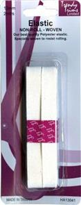 Trendy Trims  Non-roll Woven Elastic (White - 12mm x 2mtrs)