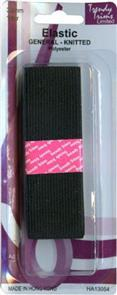 Trendy Trims Knitted Elastic (Black - 32mm x 1mtr)
