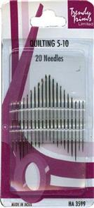 Trendy Trims  : Quilting Needles 5-10 20/Pkg