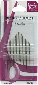 Trendy Trims  : Embroidery / Crewel Needles 8 16Pkg