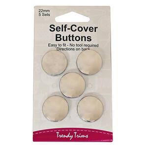 Trendy Trims Self-Cover Buttons (Metal - 15mm) 6sets/Pkg