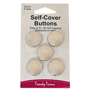 Trendy Trims Self-Cover Buttons (Metal - 11mm) 6sets/Pkg