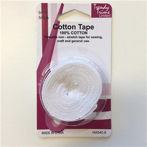 Trendy Trims : Cotton Tape 6mm x 5mtrs