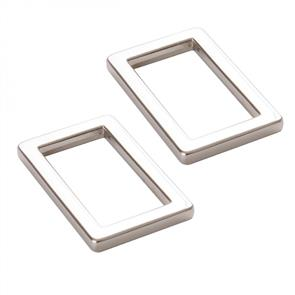 """ByAnnie By Annie : Two-1"""" Flat Rectangle Rings Nickel"""