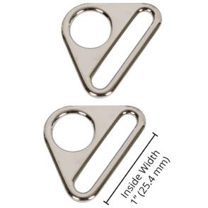"ByAnnie  Byannie - 1"" Nickle - Triangle Ring, Flat, Set of Two"