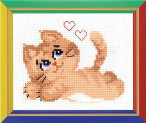 Riolis  Pussycat - Cross Stitch Kit