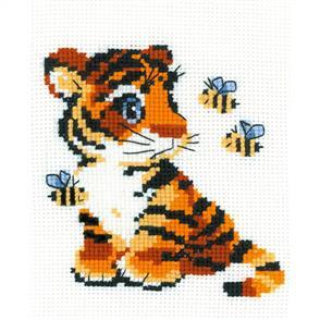 Riolis  Stripies Tiger - Cross Stitch Kit