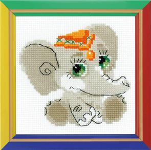 Riolis  Elephant Baby - Cross Stitch Kit