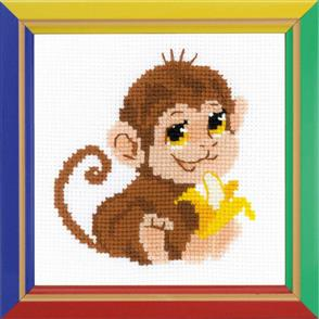 Riolis  Monkey #2 - Cross Stitch Kit
