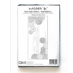 QH Textiles  Wagara Sashiko Panel - Waterfall Black 52cm x 110cm