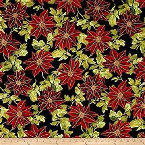 Hoffman Fabric  - Winter Blossom - 7608 Black