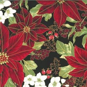 Hoffman Fabric  - Winter Blossom - 7609 Black