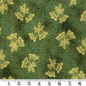 Hoffman Fabric  - Winter Blossom - 7617 Green