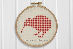 Home.Stitch.Ness  Little Kiwi Chick - Cross Stitch Pattern