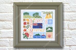 Home.Stitch.Ness  Four Seasons in New Zealand - Cross Stitch Pattern