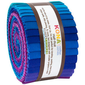 Robert Kaufman  Half Rolls: Kona Cotton - Peacock Palette